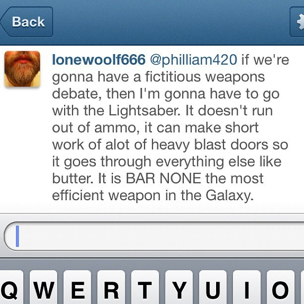 There I said it. Debate over. #Nerdlife #StarWars (Taken with instagram)
