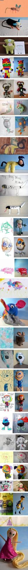 Kid's drawings turned into toys