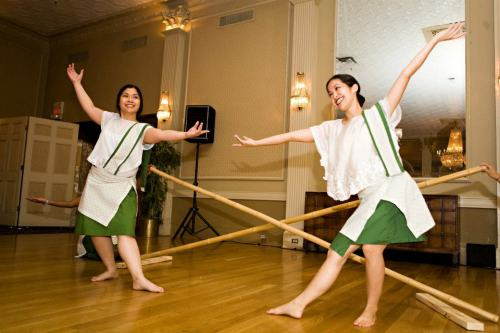 My sister and her friends dancing Tinikling, another traditional Filipino dance. :)