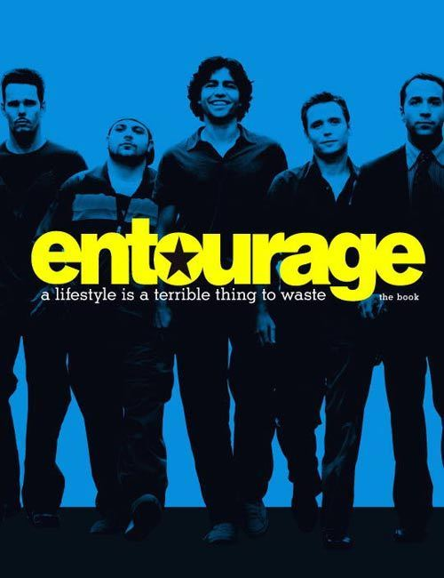 There's an Entourage book! Full Disclosure: You can support Collage of Entourage by purchasing the book through the link in this graphic. :)