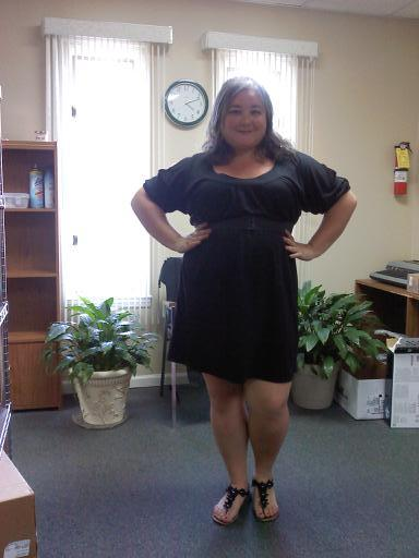 "Work style… Love this dress, got it at Wal-Mart too!! Im 5'4"" and a size 16/18. This dress is 1X."