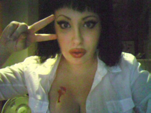 My Halloween look in 2010. I was Uma Thurman from Pulp Fiction