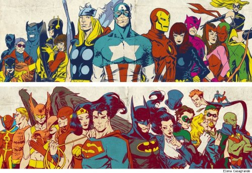 dcu:  Silver Age Avengers and Justice League by Elena Casagrande.