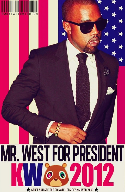 triniboy-son:  I could see Kanye running for President in 10 years.   LOL