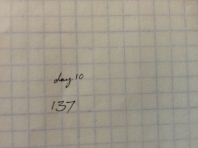 Day 82 | handwriting challenge 10 Your lucky number