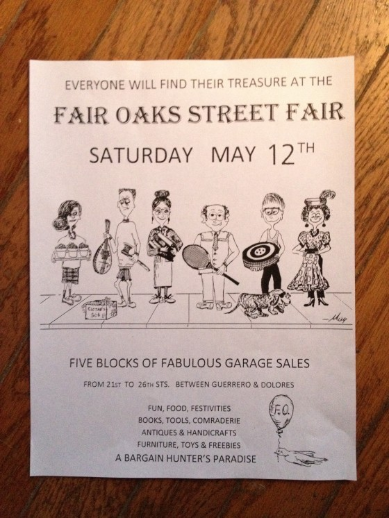 The Fair Oaks Street Fair is this weekend! Five blocks of treasure hunting in balmy 75 degree weather? Sounds good to us.