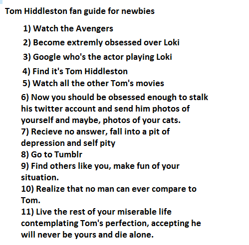 tomhiddlestonruinseverything:  I think someone should start a help line or something. Damn you, Tom.