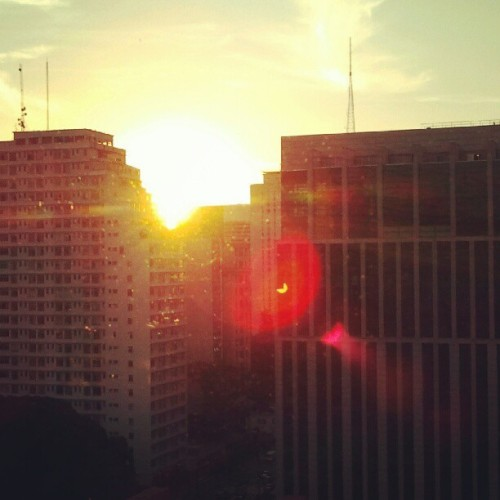 Sunset from the office.  (Publicado com o Instagram)