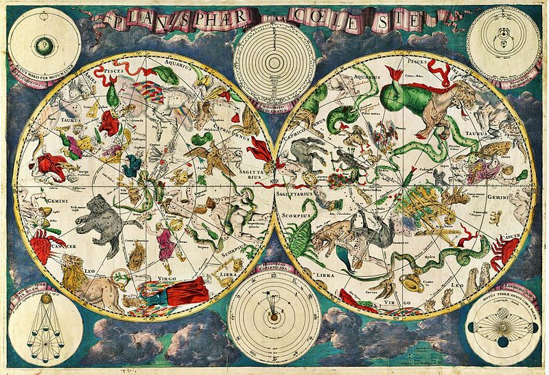 Celestial Map by Frederik de Wit