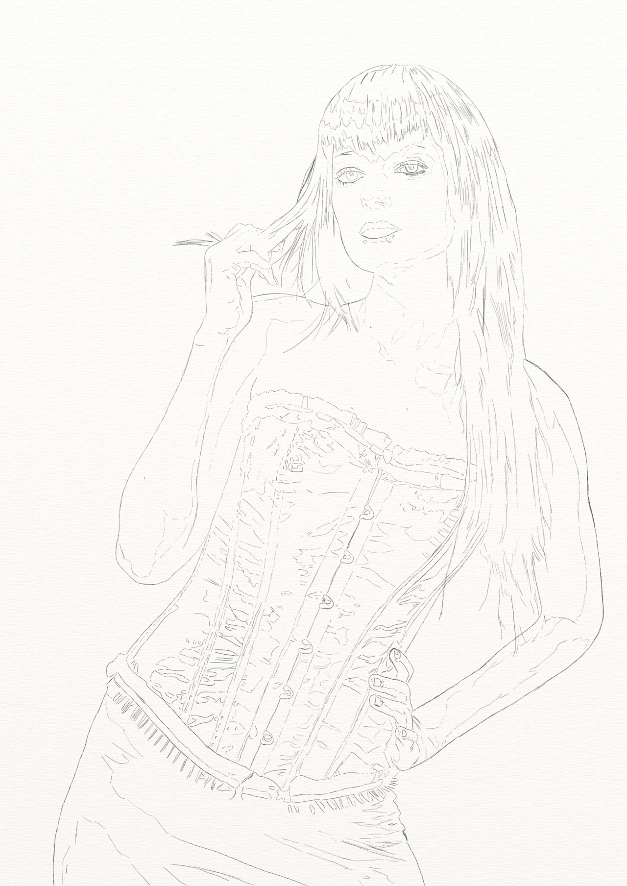 Early Sketch of next #artrage painting of model @abbieonwheels