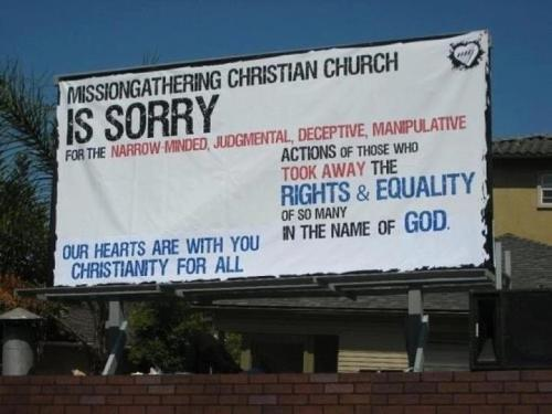 MissionGathering Christian Church (via North Carolina Church Apologizes Amendment 1 Vote)