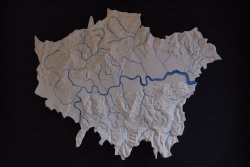 The Lost Rivers of London, a ceramic by Loraine Rutt (via things).