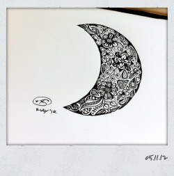 Waxing Crescent Moon; part of the Moon Series. :)— © X.S. 05.11.12
