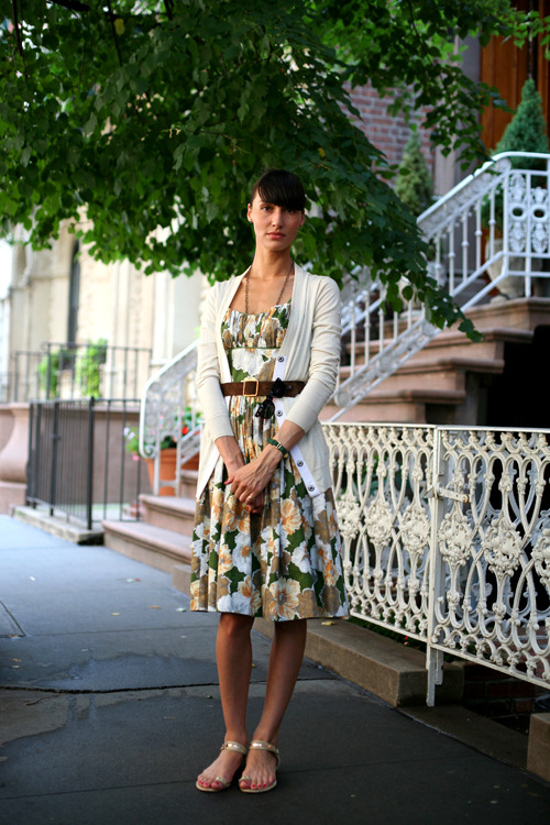 Ulla looks gorgeous in her floral print dress…New York City, NY (via The Sartorialist)
