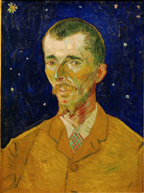 "carolynmalachi:  Gogh in, poet! Vincent van Gogh (1853-1890), Eugène Boch (The Poet), 1888, Oil on canvas, 23-5/8 x 17-11/16"", Musée d'Orsay, Paris, Bequest of Eugène Boch through the Société des Amis du Louvre, 1941, © Réunion des Musées Nationaux / Art Resource, NY. Photo: Hervé Lewandowski."