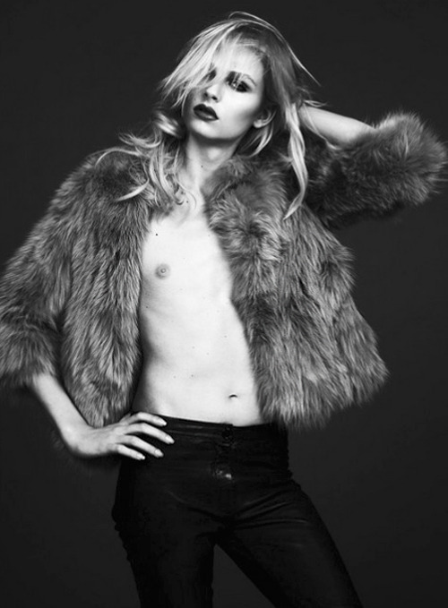 Andrej Pejic by Jonas Bresnan for S Moda