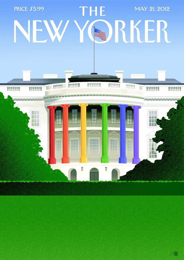 The Advocate The New Yorker Gay Marriage Cover Obama