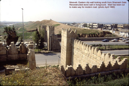 emyolwen:  Nineveh. The eastern city wall from the Shamash Gate. by StevanB on Flickr.