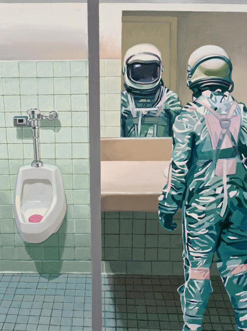 ivotemelkov:  Scott Listfield - Men's Room oil on canvas 18x24 inches