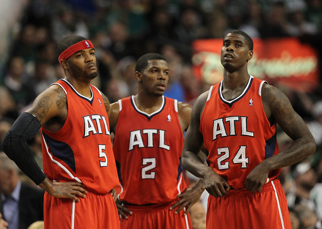 Where do the Atlanta Hawks go from here? Since ending their playoff drought in 2008, the Hawks haven't progressed in any fashion. Yes, the Hawks appeared in the Eastern Conference Semi Finals in 2009, 2010, and, 2011, but the team appears to be treading water.  It could be inferred the Hawks have benefited from the lopsidedness of the Eastern Conference (Two teams to rule them all). So, do the Hawks blow up the team and start fresh again? Or do they just stand and attempt to acquire pieces through free agency? Photo by Jim Rogash/Getty Images