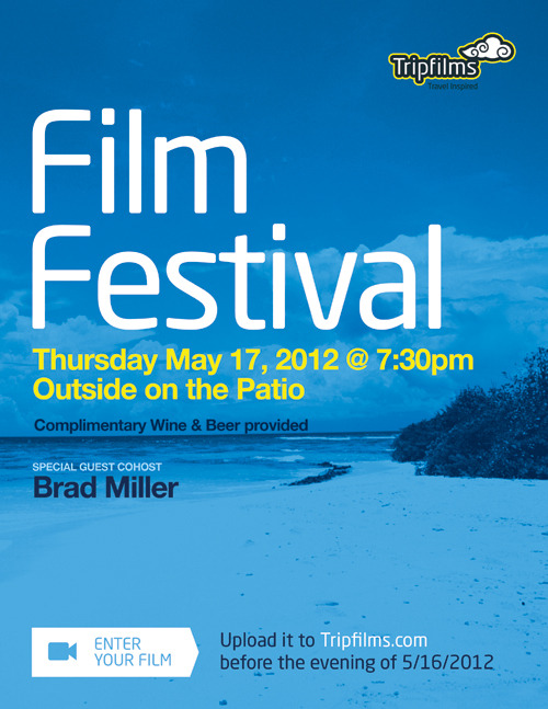 "Come to the Tripfilms ""Beach Party"" Film Festival this Thursday with special co-host: me!"