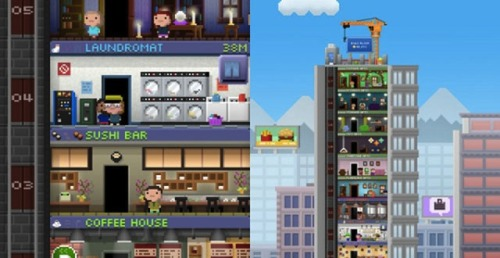 Tiny Tower + Japanese Metabolism + Rem Koolhaas for Kill Screen, by me.