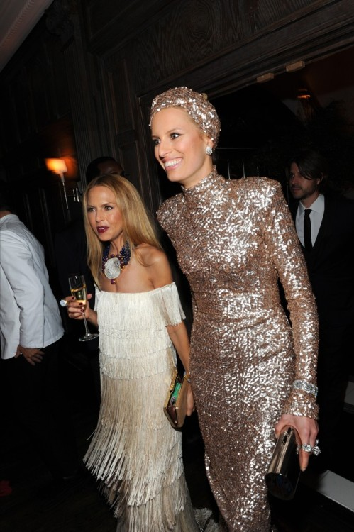 womensweardaily:   Inside the Costume Institute Gala's  After Parties Rachel Zoe and Karolina Kurkova Photo by KSW