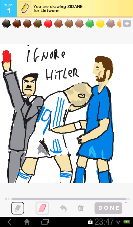 Headbutt! Submitted by Lamain, inspired by Ignore Hitler…