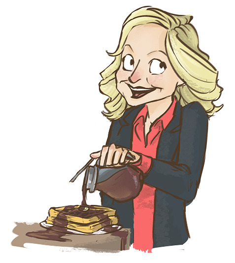 I felt like drawing a little Leslie Knope. The last episode of Parks and Rec gave me so many feelings and now I just kind of want to draw all the characters.