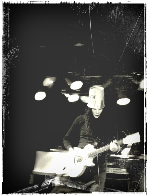 shlodown:  Pic I took of Buckethead, NYC 2012.