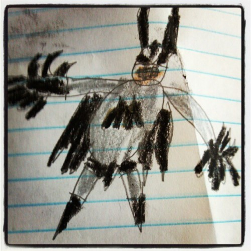 my nephew sent me another masterpiece #batman (Taken with instagram)