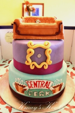 centrlperk:   F.R.I.E.N.D.S Cake  Look at this motherf-ing cake! If someone presented this to me I would marry them in a second. From here.