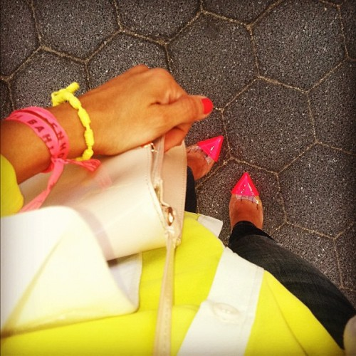 I live for color  #fashion #NYC #louboutins  (Taken with instagram)