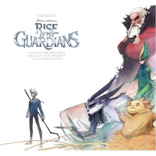 rufftoon:  Art Of Rise Of The Guardians Cover art by Perry Maple. Looks like you can already pre-order it (wish they had put the back cover image as well…) http://www.amazon.com/The-Rise-Guardians-Ramin-Zahed/dp/1608871088  I bet the back cover image is Pitch OH SHIT