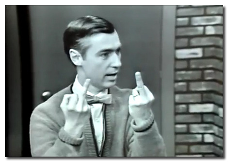 Yes that's Mr. Rogers. Yes, that was during a kids' show. http://www.cracked.com/blog/14-photographs-that-shatter-your-image-famous-people/