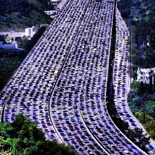 Let's Have A Moment Of Silence For All Those Who Are Stuck In Traffic     The longest traffic jam in the world recorded in China. It's length is 260 kilometers.  _____________________   (Taken with instagram)