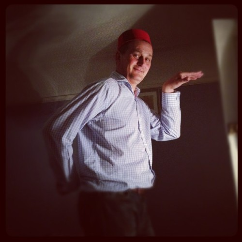 Dad and the fez…lookin' flyyyyyy (Taken with instagram)