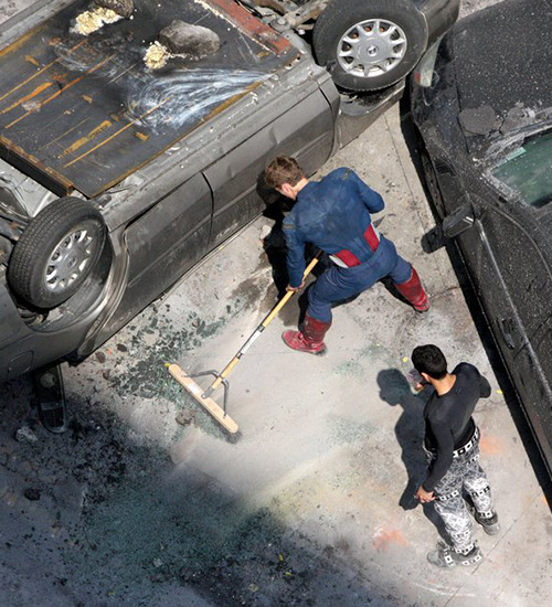 commanderspock:  colinfirth  chris evans cleaning after shooting on the avengers set.     #torn between being endeared and laughing in his face #there's a dude behind him like #hey that's my broom #excuse me i'm supposed to do that #that's kind of why i'm here #you're the actor and you want to be crew too #does this mean i'm fired? #my wife is going to kill me
