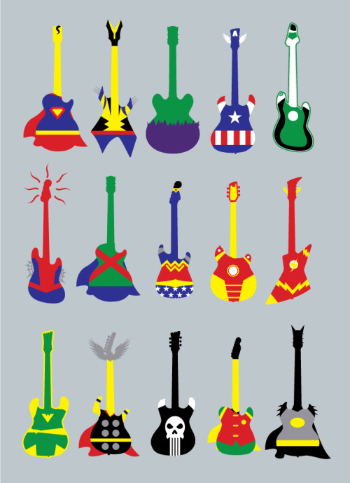 herochan:  Guitar Heroes Created by Jonah Block Vote HERE if you want to see it printed as a T-shirt! Facebook || Twitter