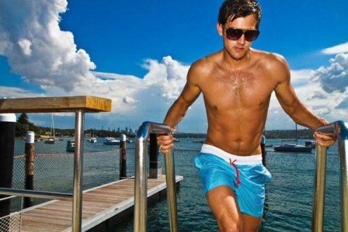 Men's 2012 swimwear. It's always funny to me how everything comes full circle. I figured as beach trips were fast approaching I should add a little something on swimwear. Now continuing with my initial statement, the current trend in men's swimwear has gone back to some of the classic looks and color schemes of the 70s, 60s, and even 20s.   Men's swimwear