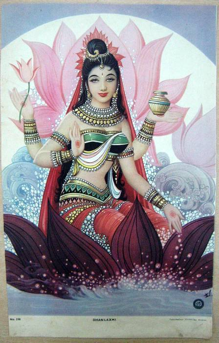 befairbefunky:     Lakshmi ~  Hindu goddess of wealth, prosperity (both material and spiritual), light, wisdom, fortune, fertility, generosity and courage; and the embodiment of beauty, grace and charm.      Our jade mala beads are especially powerful to invoke the sweet blessings of Lakshmi.