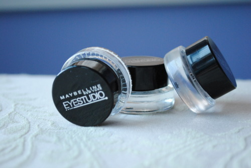 Maybelline EyeStudio Gel Liners Check out http://dayleebeauty.blogspot.ca/2012/05/maybelline-eyestudio-gel-liner-swatches.html for a full review!
