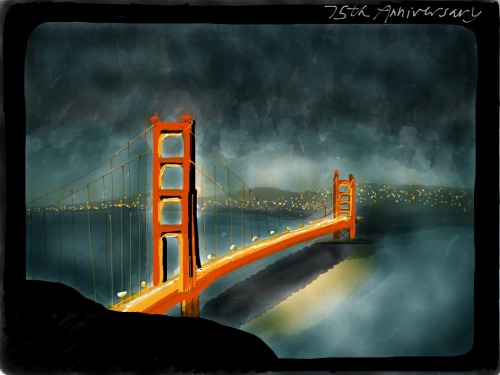 Golden Gate Bridge 75th Anniversary Made with Paper