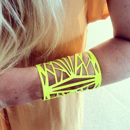 How amazing does Molten Relic's Dial Tone Cuff look on our friend Torah? Shop it for yourself at Molten Store xx (Taken with instagram)