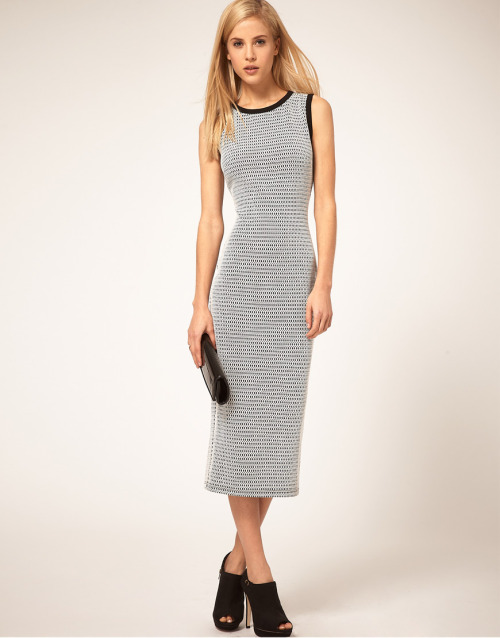 ASOS Midi Pencil Dress in MonochromeMore photos & another fashion brands: bit.ly/JgPXRU