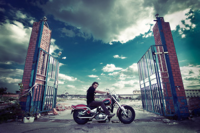 Are these the pearly gates to motorcycle heaven? (If there is such a place…)  Photo by Mira.