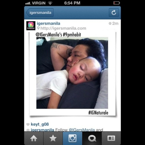 Thanks @igersmanila for using this photo of my hubby and lil girl as a sample photo for your #ignaturale.. More power. #igersmanila  (Taken with instagram)