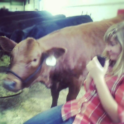 Me and Lucy. I miss this heifer. (Taken with instagram)