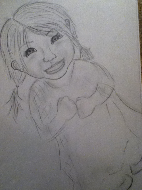 Happiness x) this is my best realistic drawing so far :D