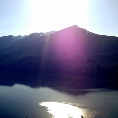 No filter. Slocan Lake.  (Taken with Instagram at Slocan Lake )